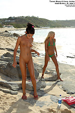 Babes Go Crazy on a Public Beach from ALS Scan