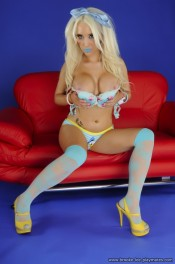 Electric Blue Barbie from Brooke Lee Playmates