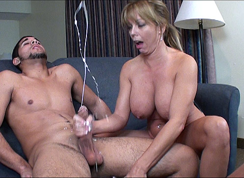 Milf Big Tits Handjob Action from Cum Blast City