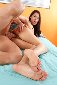 Eva Gets Her Pussy Pounded and Gives a Footjob from Foot Fetish Daily
