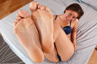 Rilynn Loves Wrapping Her Long Toes Around Hard Cock from Foot Fetish Daily
