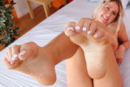 Alysha Rylee Wraps Her Sexy Toes Around Cock from Foot Fetish Daily