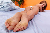 Sheena Shaw Loves a Hard Cock Between Her Feet and Mouth from Foot Fetish Daily