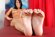 Sophia Shows Off Her Hot Body and Gives a Sexy Footjob from Foot Fetish Daily
