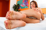 Veronica Rodriguez Gives a Footjob and Rides the Cock Deep from Foot Fetish Daily
