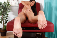 Nikki Daniels Wraps Her Sexy Toes Around a Cock from Foot Fetish Daily