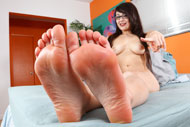 Sophia Worships Lou Sexy Feet and Gets Fucked from Foot Fetish Daily