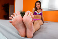 Jaslene Jade Wraps Her Sexy Feet Around A Pulsing Cock from Foot Fetish Daily