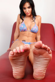 Amber Cox Offers Up Her Feet and Pussy to Hard Cock from Foot Fetish Daily