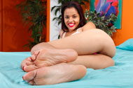 Bambi Wolfe Has Her Sexy Feet Fucked and Jizzed On from Foot Fetish Daily