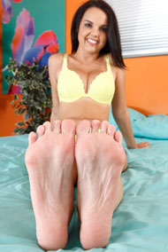 Dillion Harper Has a Toe Curling Orgasm and Footjob from Foot Fetish Daily