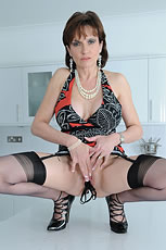 Panties stuffing milf Lady Sonia from Lady Sonia