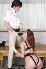 Kinky strapon lezdom uk milf duo from Lady Sonia