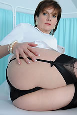 Black nylon panties mature nurse from Lady Sonia