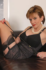 Brunette milf lingerie dominatrix from Lady Sonia