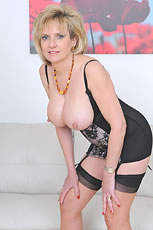 Classic lingerie and nylons mature Lady Sonia from Lady Sonia