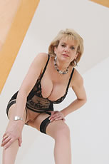 Lingerie milf Lady Sonia masturbates in mirror from Lady Sonia