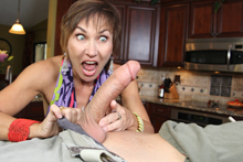 Mature milks massive dick from Over 40 Handjobs