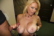 Sexy cougar milks massive dick from Over 40 Handjobs