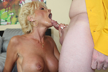 Mature lady Nikki jack off her daughters husband from See Mom Suck