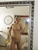 Nasty Bianca F use her camera to take pictures of of her nude amazing body in the mirror