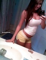A hot brunette amateur girlfriend