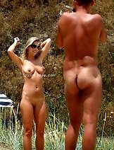 Great candid shots made at the nudist beach